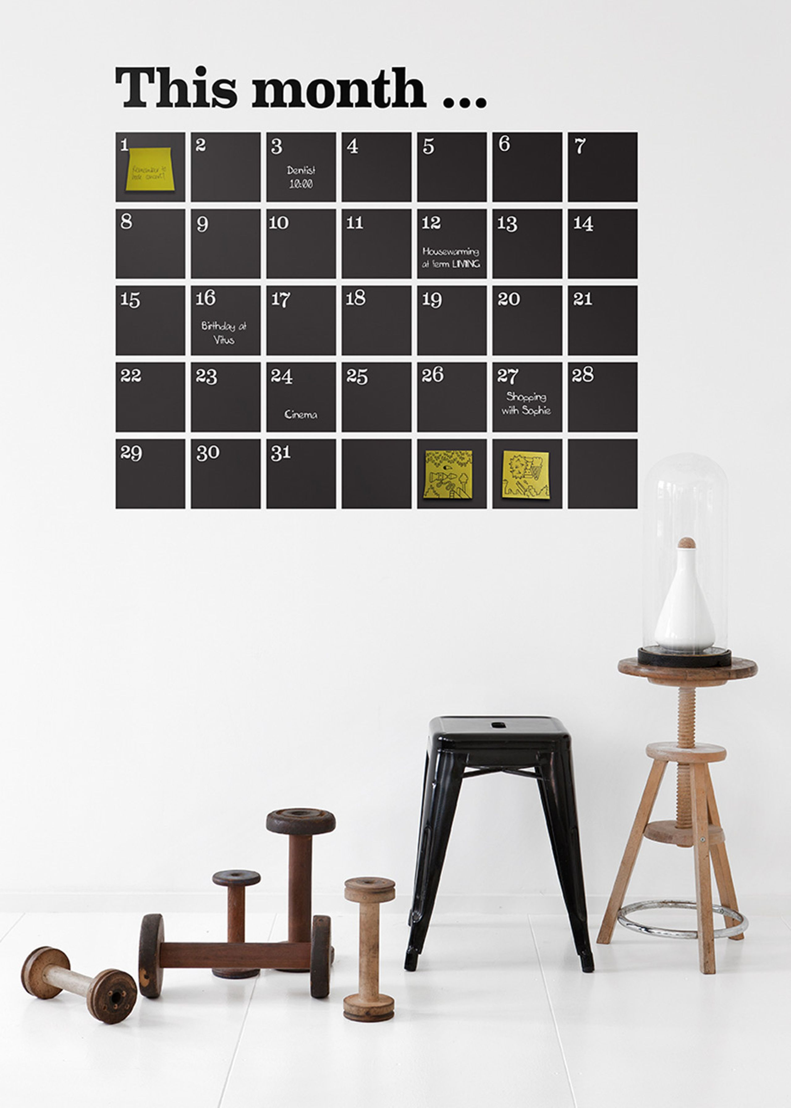 calendar wallsticker wallstickers ferm living chalkboard calendar wall decals at home with kim vallee
