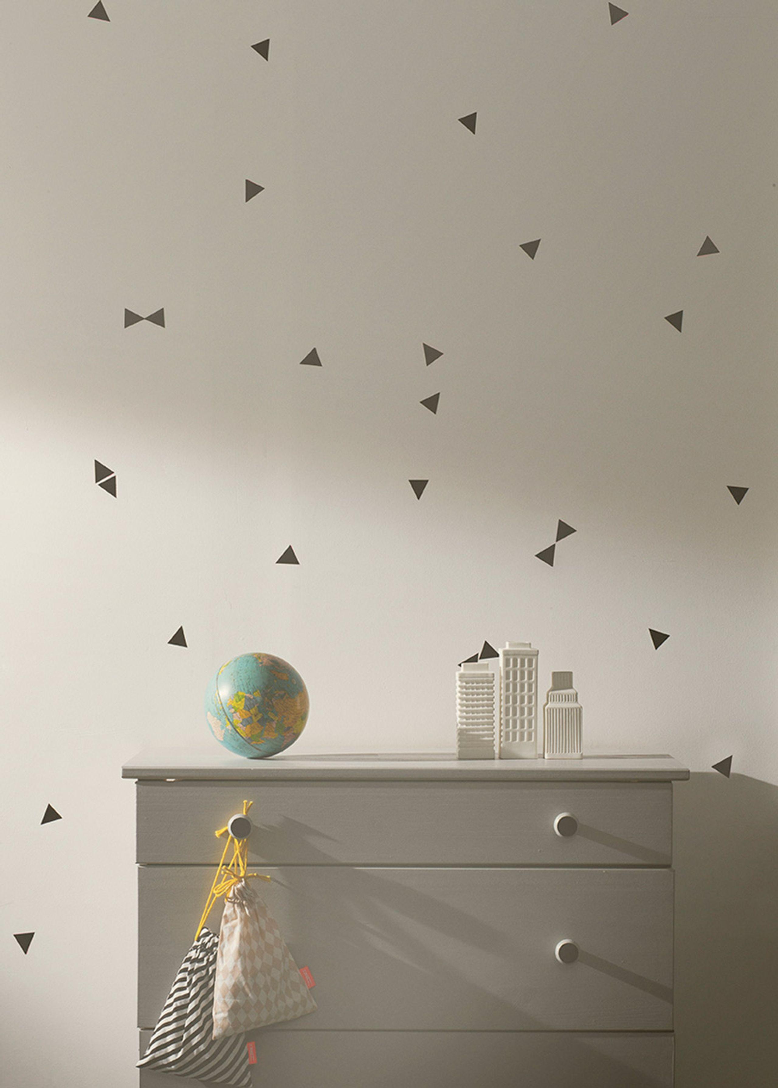 mini triangles wallsticker wallstickers ferm living abc house wallsticker ferm living