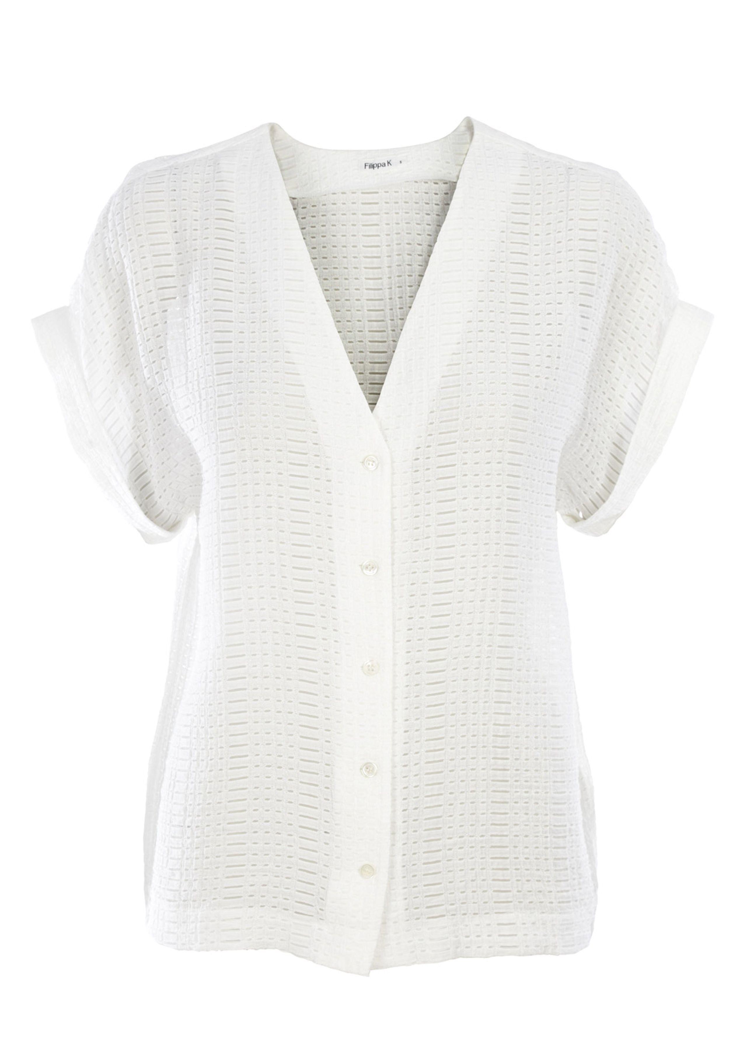 Structure blouse lace