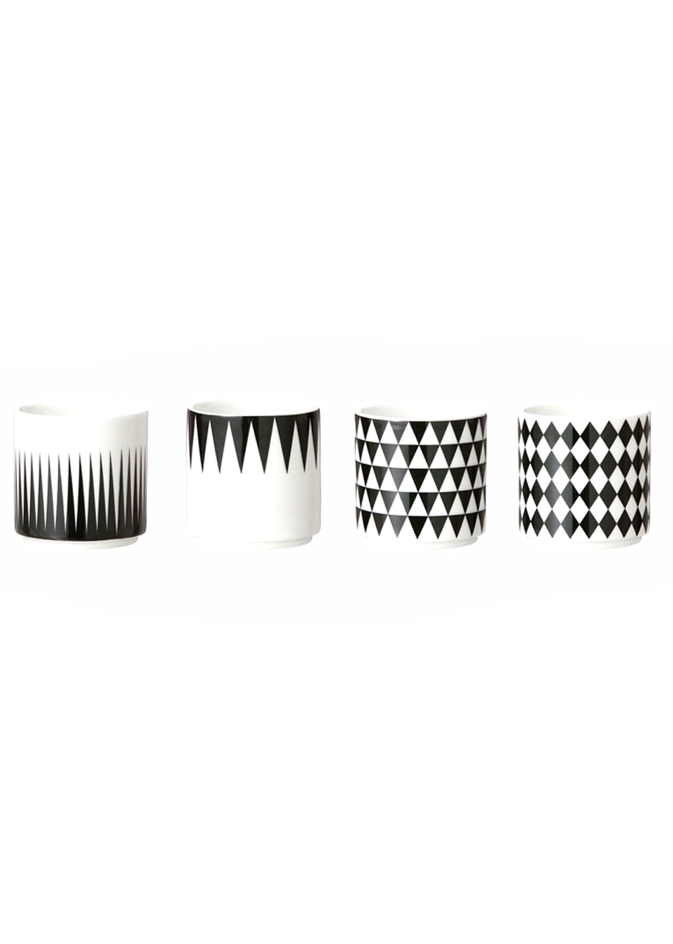 Geometry espresso cups - 4 stk.