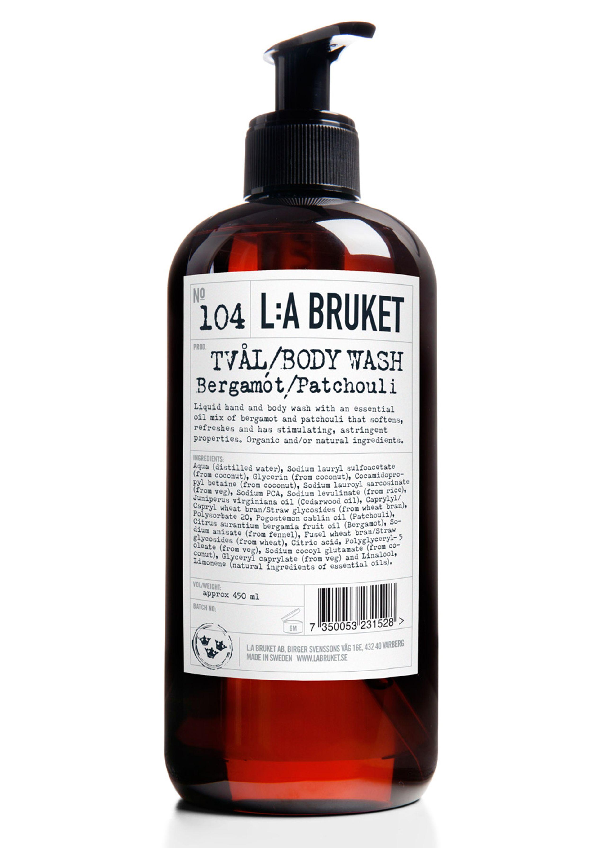 No. 104 liquid soap bergamot/patchouli