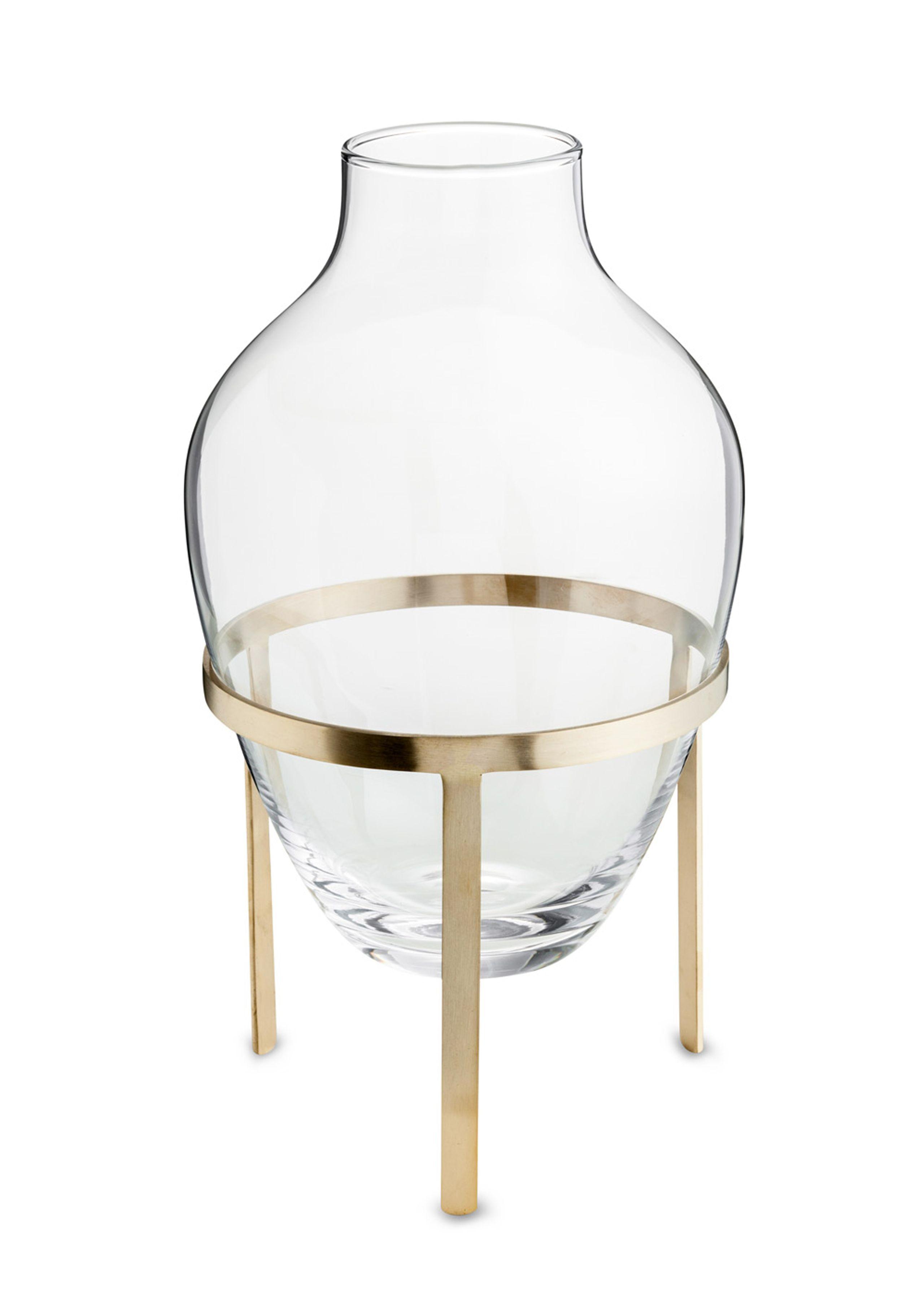 Glass vase w. stand