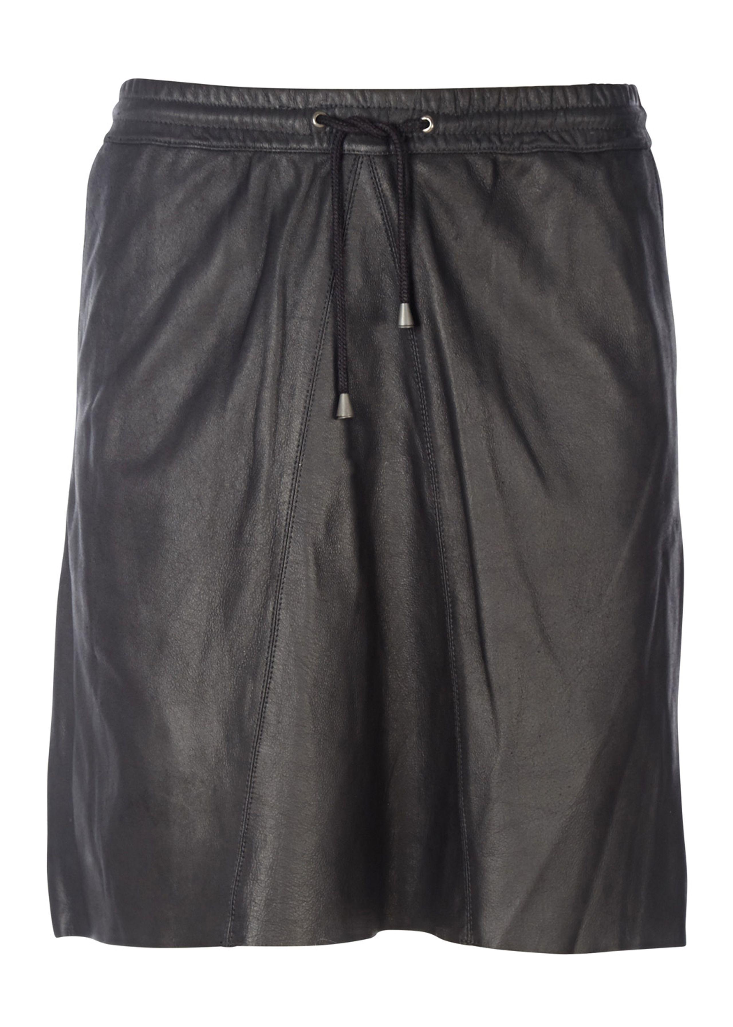 Flora mw leather skirt