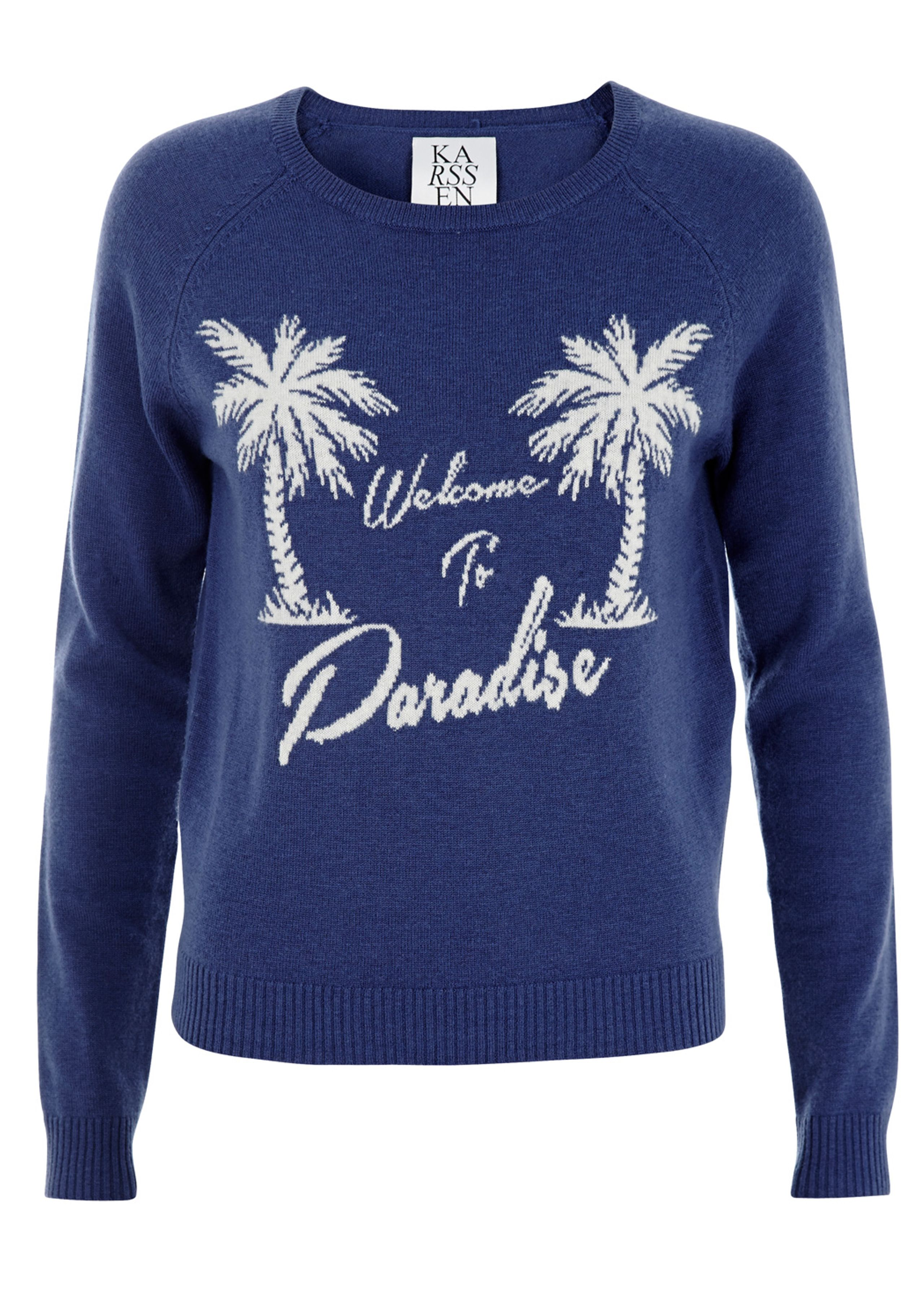 Loose knitted paradise pullover