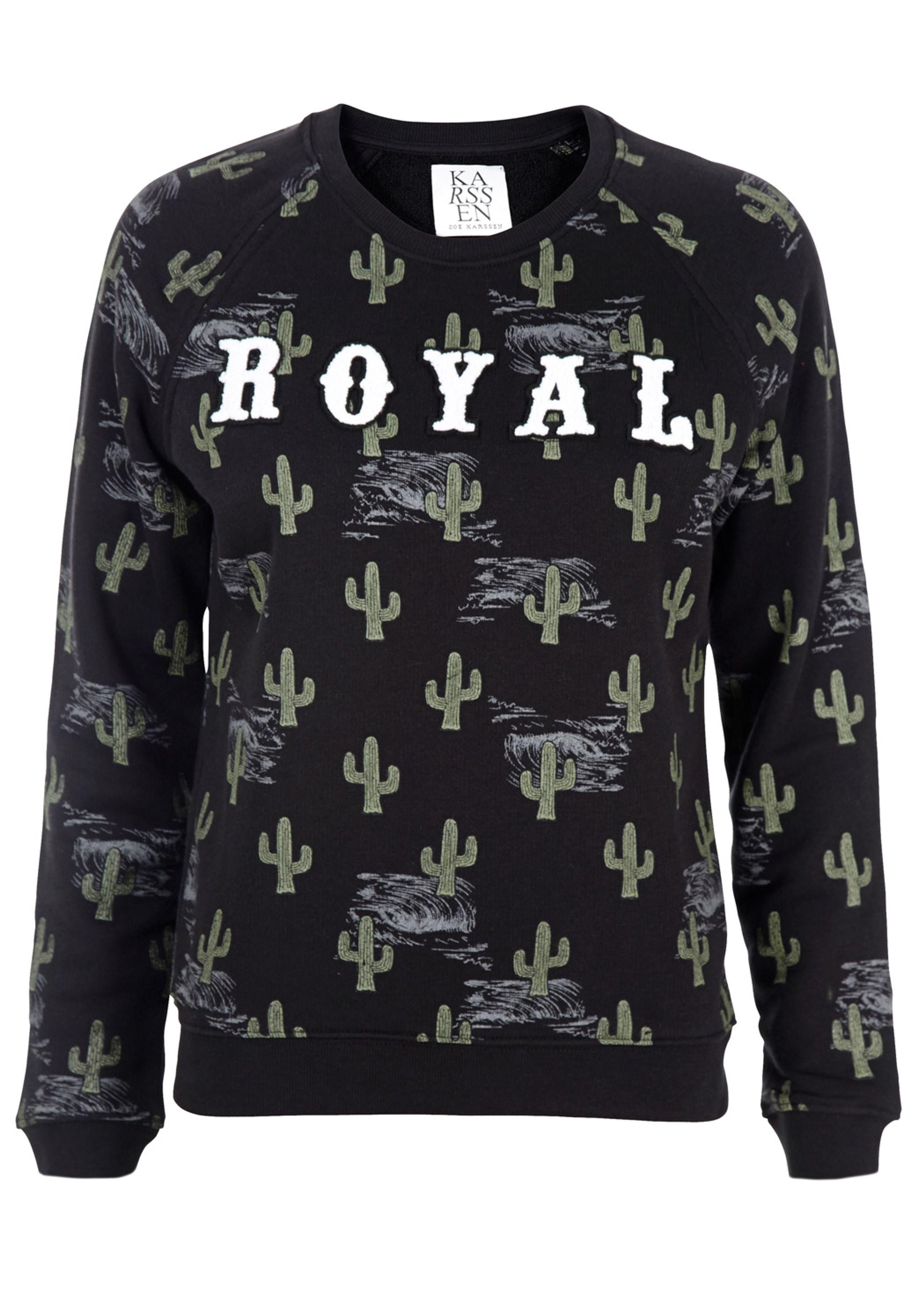 Cactus royal loose sweatshirt