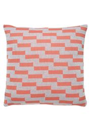 FUSS - Cushion - A5 Pude - Light Grey/Coral Rose - Light Grey/ Coral Rose