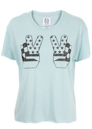 Zoe Karssen - T-shirt - Box Fit Extended Peace - Light Blue