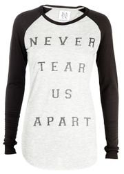 Zoe Karssen - Blouse - Long Sleeve Never Tear Us Apart - Black/Grey