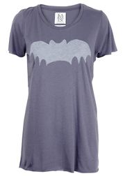 Zoe Karssen - T-shirt - Loose Fit Long Bat SS14 - Støvet Blå