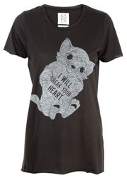 Zoe Karssen - T-shirt - Oversize Loose Fit I Will Break Your Heart - Pirate Black
