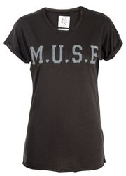 Zoe Karssen - T-shirt - Oversize Loose Fit M.U.S.E - Sort