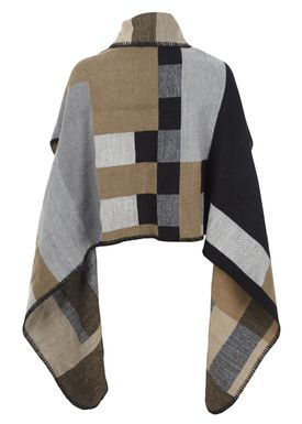 Bæltekompagniet - Poncho - Scarf Wrap Around - Sort Print