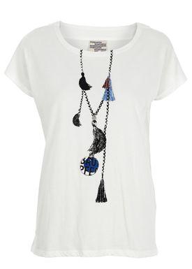 Baum und Pferdgarten - T-shirt - Eira - Hvid