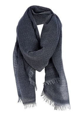 Black Colour - Scarf - String Scarf - Navy