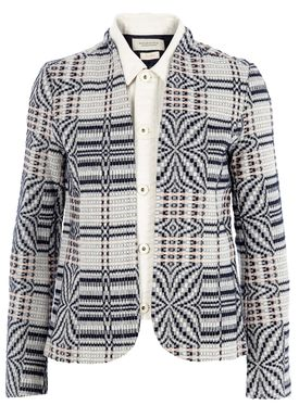 Maison Scotch - Blazer - Blazer Jacket With Denim Collar - Mønster
