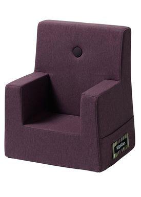 By KlipKlap - Chair - KK Kids Chair - Plum 12314 w plum buttons