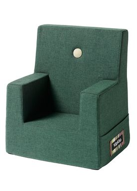 By KlipKlap - Stol - KK Kids Chair XL - Deep green 920 w light green buttons