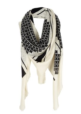By Malene Birger - Scarf - Ubisah - Black Signature Print