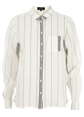 Designers Remix - Shirt - Cloth Shirt - Cream/Black