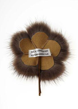 Lille Blomst Hårnål Brun