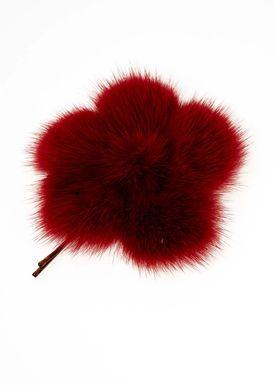 Lille Blomst Hårnål Rød
