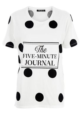 Fame on You Paris - T-shirt - 5 Minute Journal - Hvid