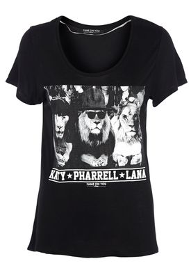 Fame on You Paris - T-shirt - Jungle Fashion no. 4 - Sort
