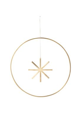 Ferm Living - Julepynt - Winterland Brass Star - Large - Brass