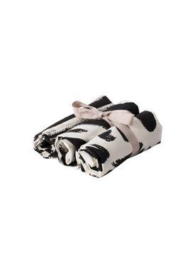 Ferm Living - Viskestykke - Brush Tea Towels (set of 3) - Black and White
