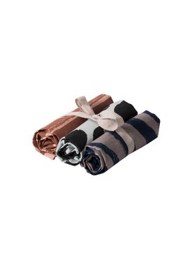 Ferm Living - Viskestykke - Brush Tea Towels (set of 3) - Multi