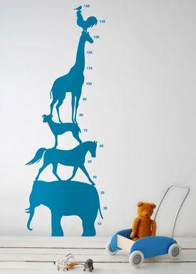 Ferm Living - Wallstickers - Animal Tower Wallsticker - Blå