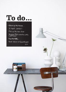 Ferm Living - Wallstickers - To Do Wallsticker - Sort