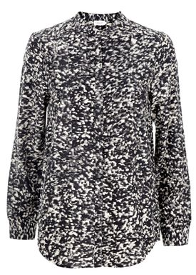 Filippa K - Blouse - Print Blouse - Black/Cream Print