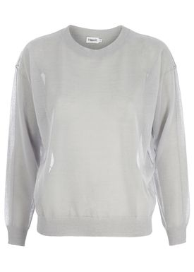 Filippa K - Bluse - Sheer Knit Pullover Crystal - Lys Grå