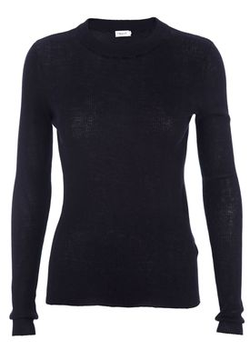 Filippa K - Blouse - Slim Rib Knit Top - Navy