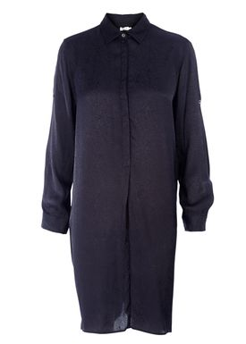 Filippa K - Kjole - Drapey Structure Shirt Dress - Navy