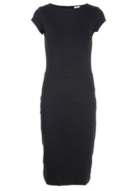 Filippa K - Dress - Jersey Pinstripe Dress - Black w. White Pinstripe