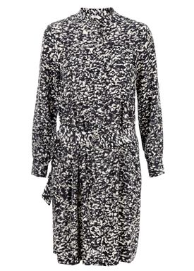Filippa K - Dress - Print Shirt Dress - Black/Cream Print