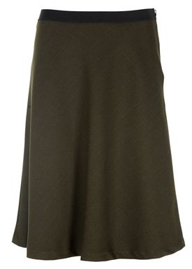 Filippa K - Skirt - Bias Cut Skirt - Dark Green