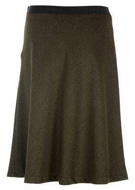 Filippa K - Nederdel - Bias Cut Skirt - Mørk Grøn