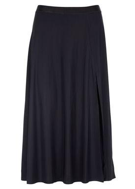 Filippa K - Nederdel - Jersey Long Slit Skirt - Sort