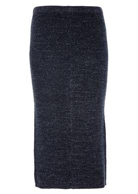 Filippa K - Nederdel - Melange Knit Skirt - Navy Melange