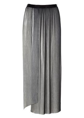 Filippa K - Nederdel - Plissé Slit Skirt - Sort/Hvid