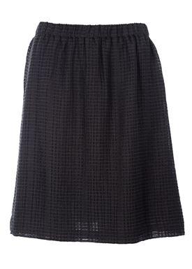 Filippa K - Nederdel - Structure Skirt Lace - Sort