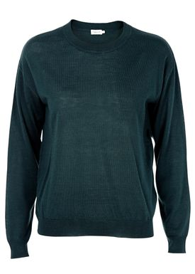 Filippa K - Knit - Merino R-neck Pullover - Dark Green