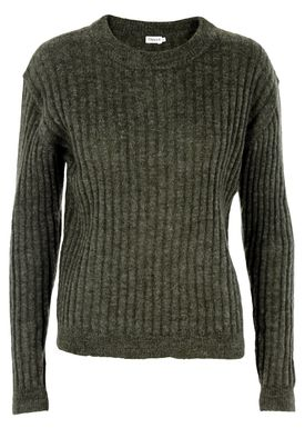 Filippa K - Knit - Ribbed Mohair Pullover - Dark Green