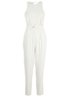 Finders Keepers - Buksedragt - As You Are Twist Jumpsuit - Offwhite/Sort