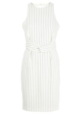 Finders Keepers - Kjole - As You Are Twist Dress - Offwhite/Sort
