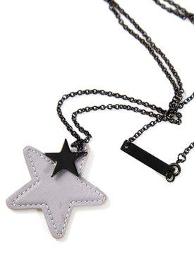 Leather Star Halskæde Grå (Sort)
