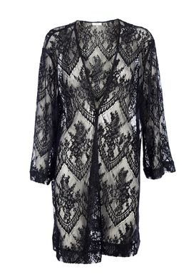 Ganni - Kjole - Larkin Lace Dress - Sort/Navy